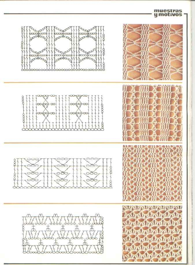 Pin de Mónica Vivanco en patrones y puntadas | Crochet, Crochet ...