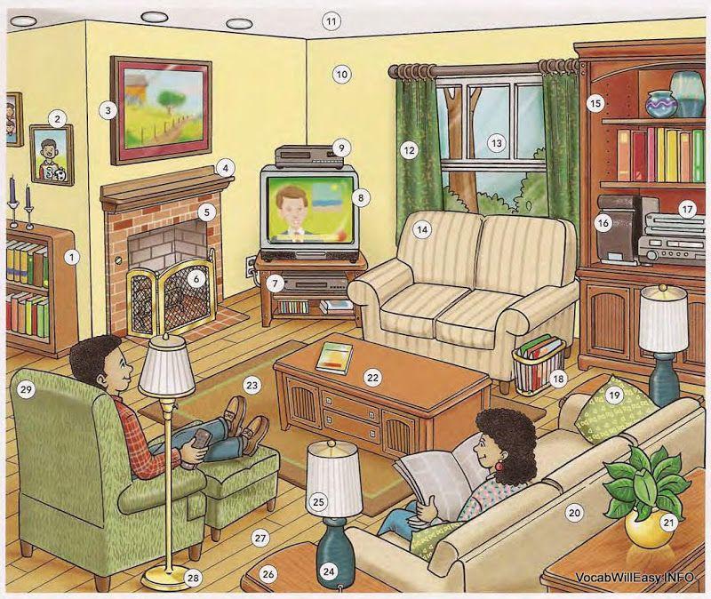 zimmer beschreiben tutoring german pinterest wortschatz bildbeschreibung und wimmelbild. Black Bedroom Furniture Sets. Home Design Ideas
