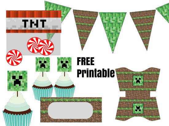 Imprimibles Minecraft Minecraft Minecraft Birthday Party