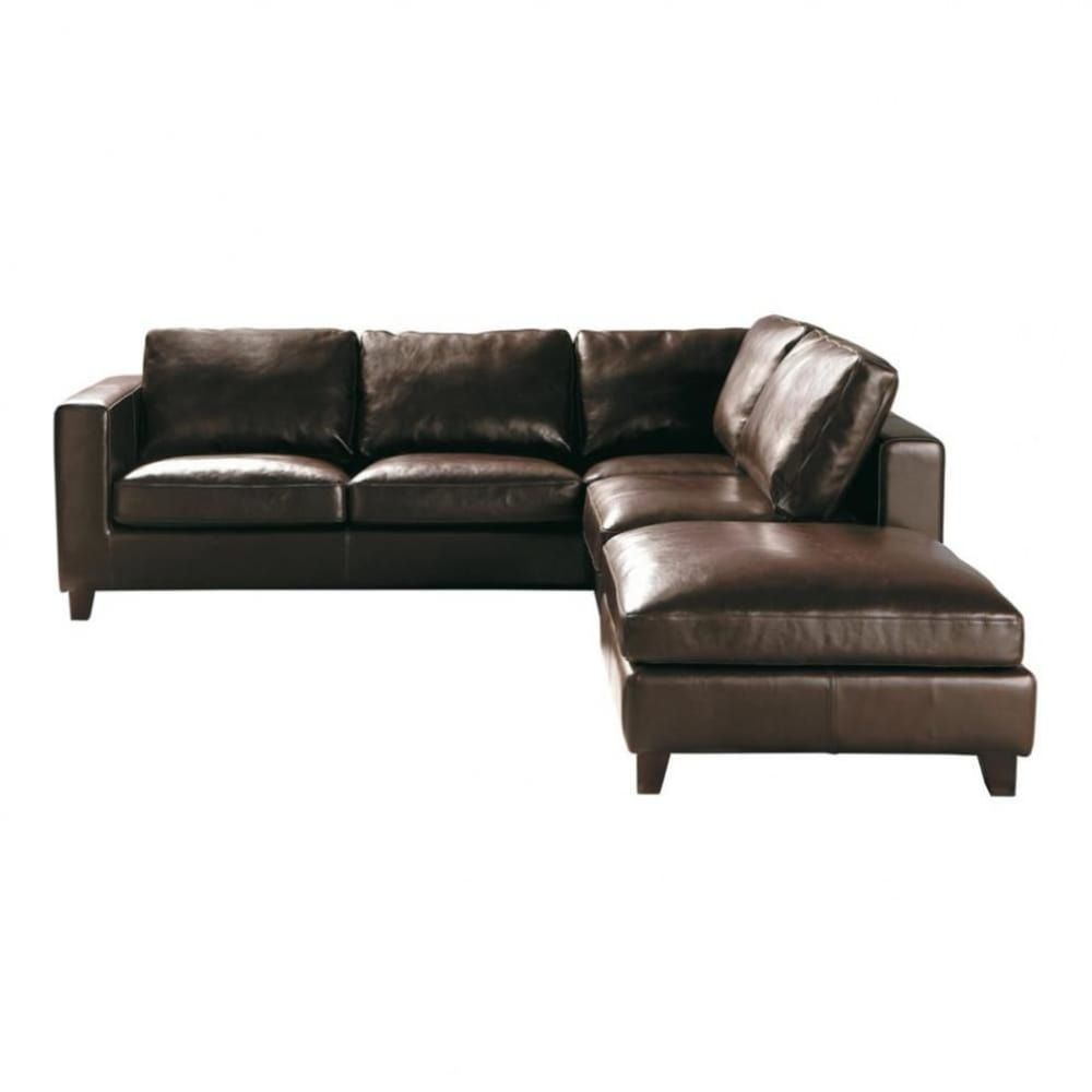 Best 5 Seater Split Leather Corner Sofa Bed In Brown Leather 400 x 300