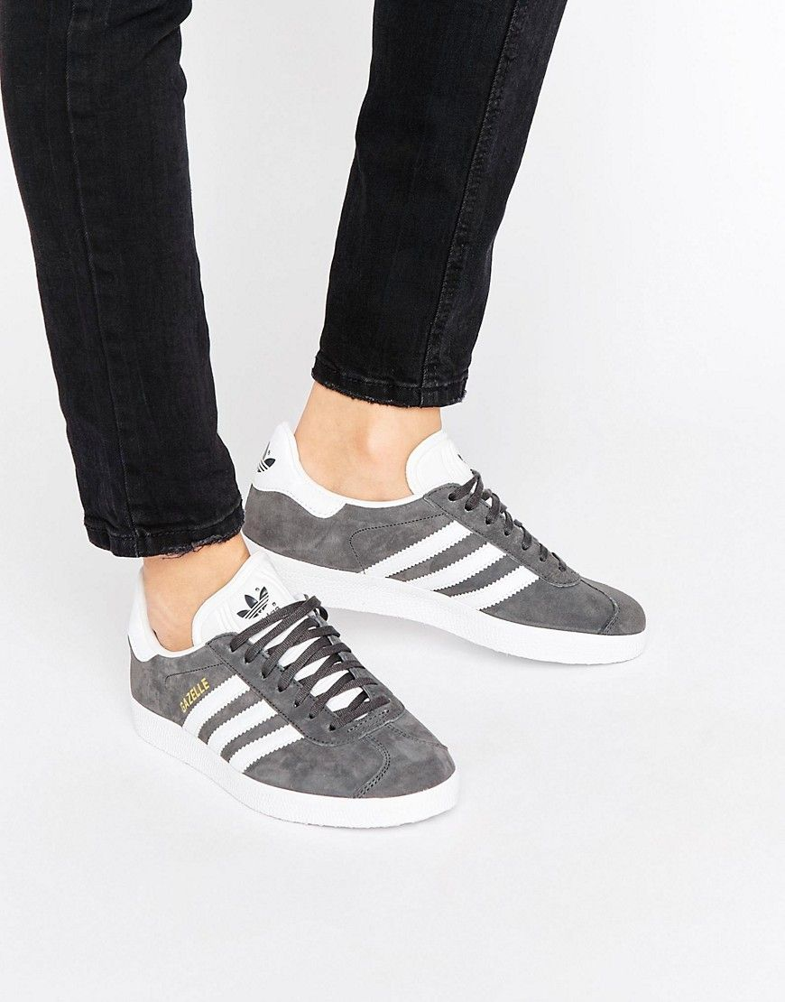 Buy it now. adidas Originals Grey Suede Gazelle Unisex Trainers - Blue.  Trainers by