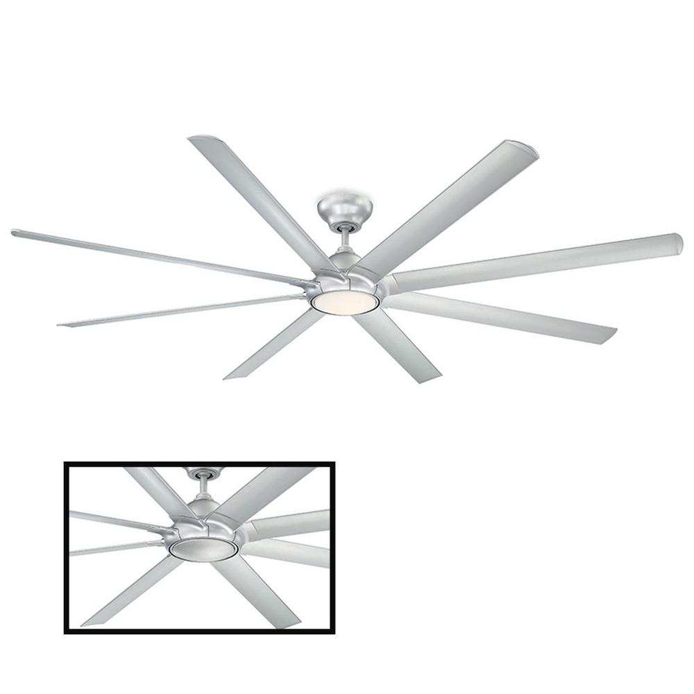 Modern Forms Hydra 96 In Led Indoor Outdoor Titanium Silver 8 Blade Smart Ceiling Fan With 3000k Light Kit And Wall Control Fr W1805 96l Tt The Home Depot Ceiling Fan Ceiling Fan With Light