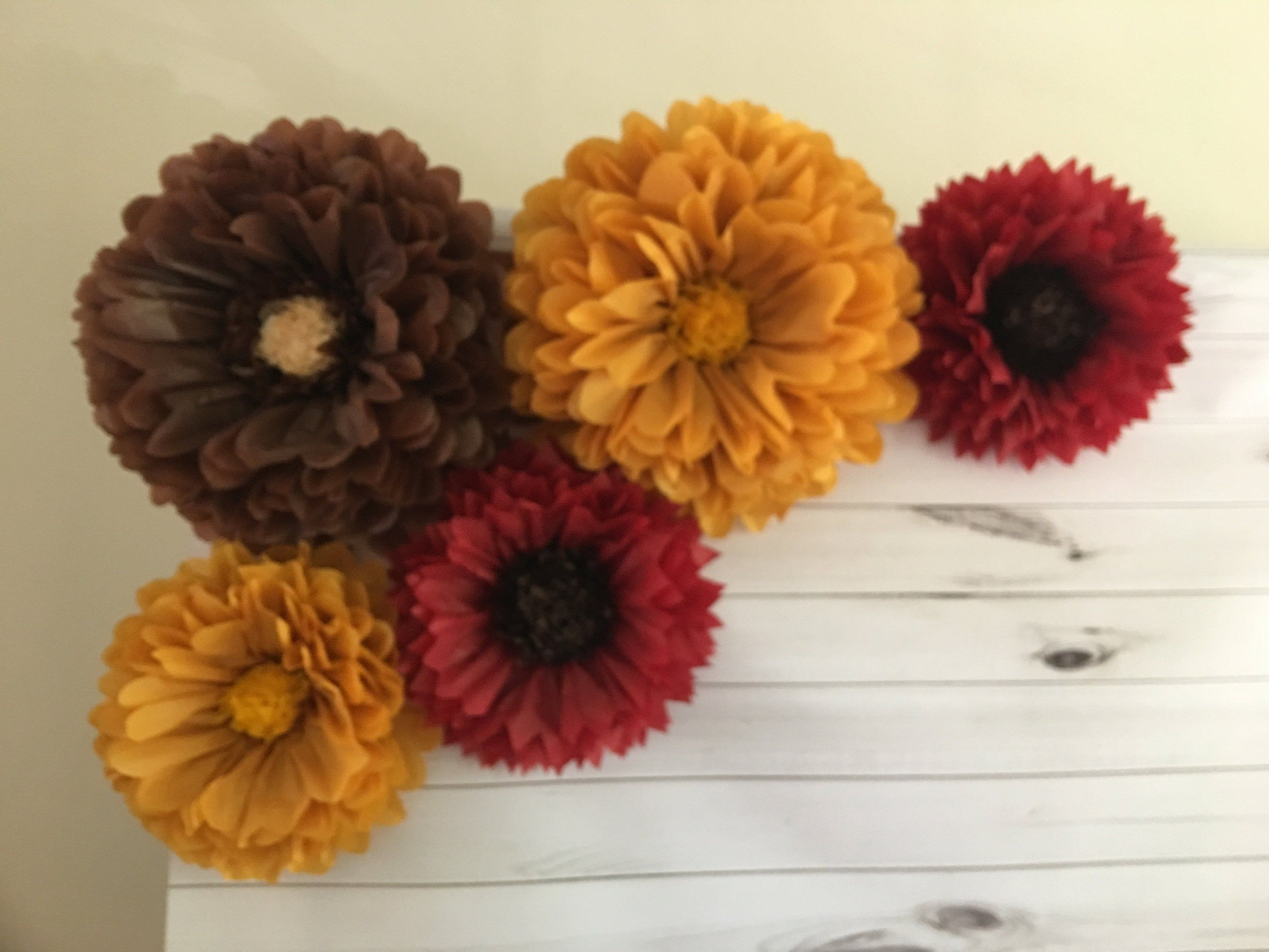Fall paper flower backdrop for fall home decor, fall ...