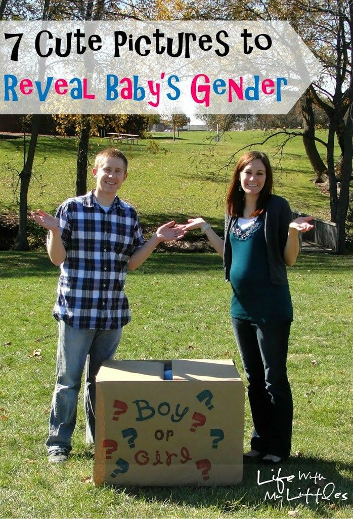 7 Cute Pictures to Reveal Baby's Gender: Easy, cute, and simple picture ideas to…