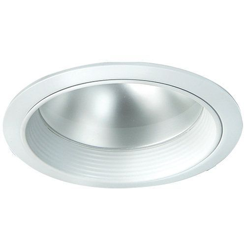 """Elco EL7424 6"""" LED Reflector Trim with Regressed Frosted Lens White Recessed Lights Recessed Trims Shower Trims"""