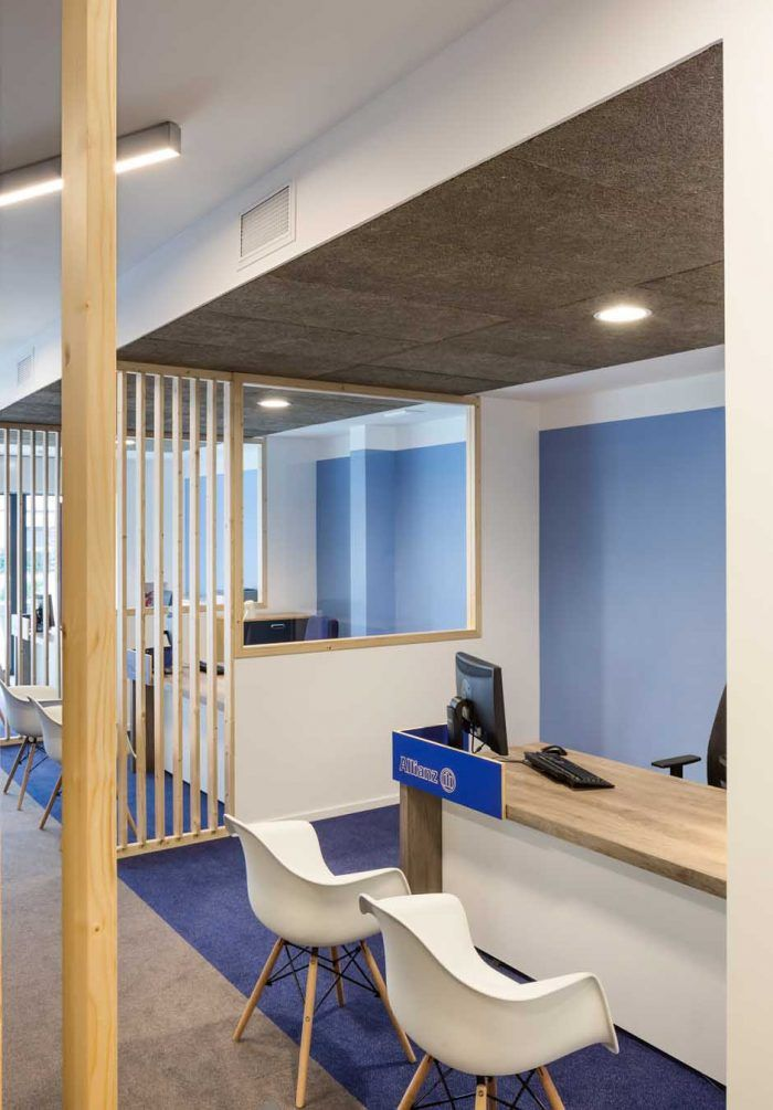 allianz - intérieur bureau - agence d'assurance | réalisations ... - Designer Chefmobel Moderne Buro