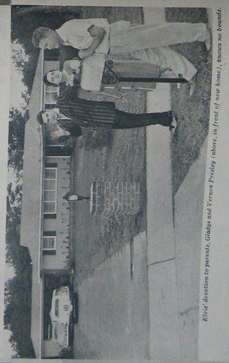 Elvis' house at 1034 Audubon Dr. in Memphis - 1956