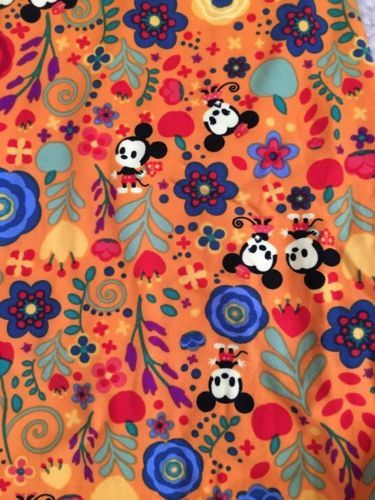 bf2a28596d709c LuLaRoe Disney Mickey & Minnie Flower Leggings One Size OS 🦄 *NEW* Fall  Colors