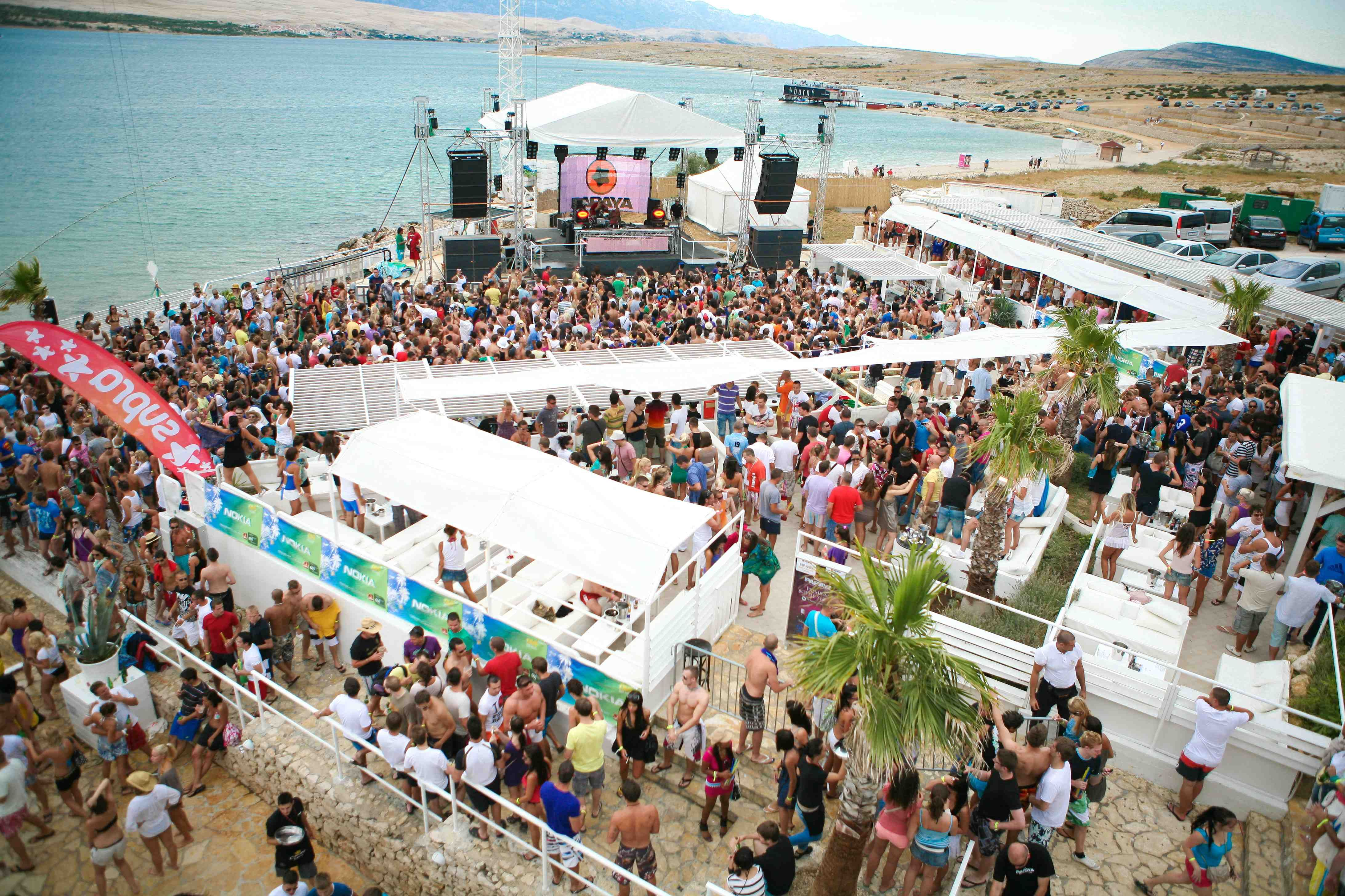 Zrce beach party zone on Island of Pag http//www