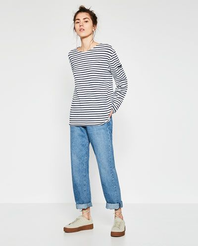 UNGENDERED STRIPED T-SHIRT from Zara - causal chic!