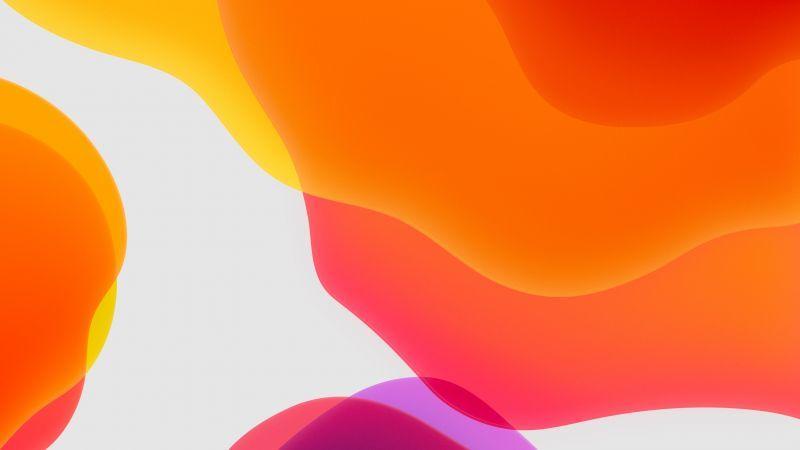 Wallpaper iOS 13, iPadOS, abstract, dark, WWDC 2019, 4K