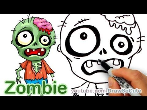 How to Draw a Zombie Cute step by step Animated | Kids fun ...