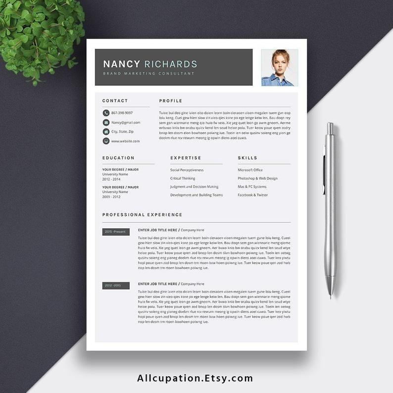 Modern Resume 2019 Professional Resume Cv Template Editable Word Resume Cover Letter Creative Cv Template Cover Letter For Resume Cv Design Template