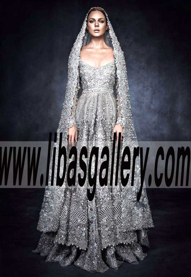 Tie the knot wearing this beautiful Pakistani Designer E