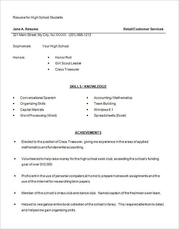 Freshman In College Resume Impressive Resume Examples For Year 9 Students  Pinterest  High School Resume .