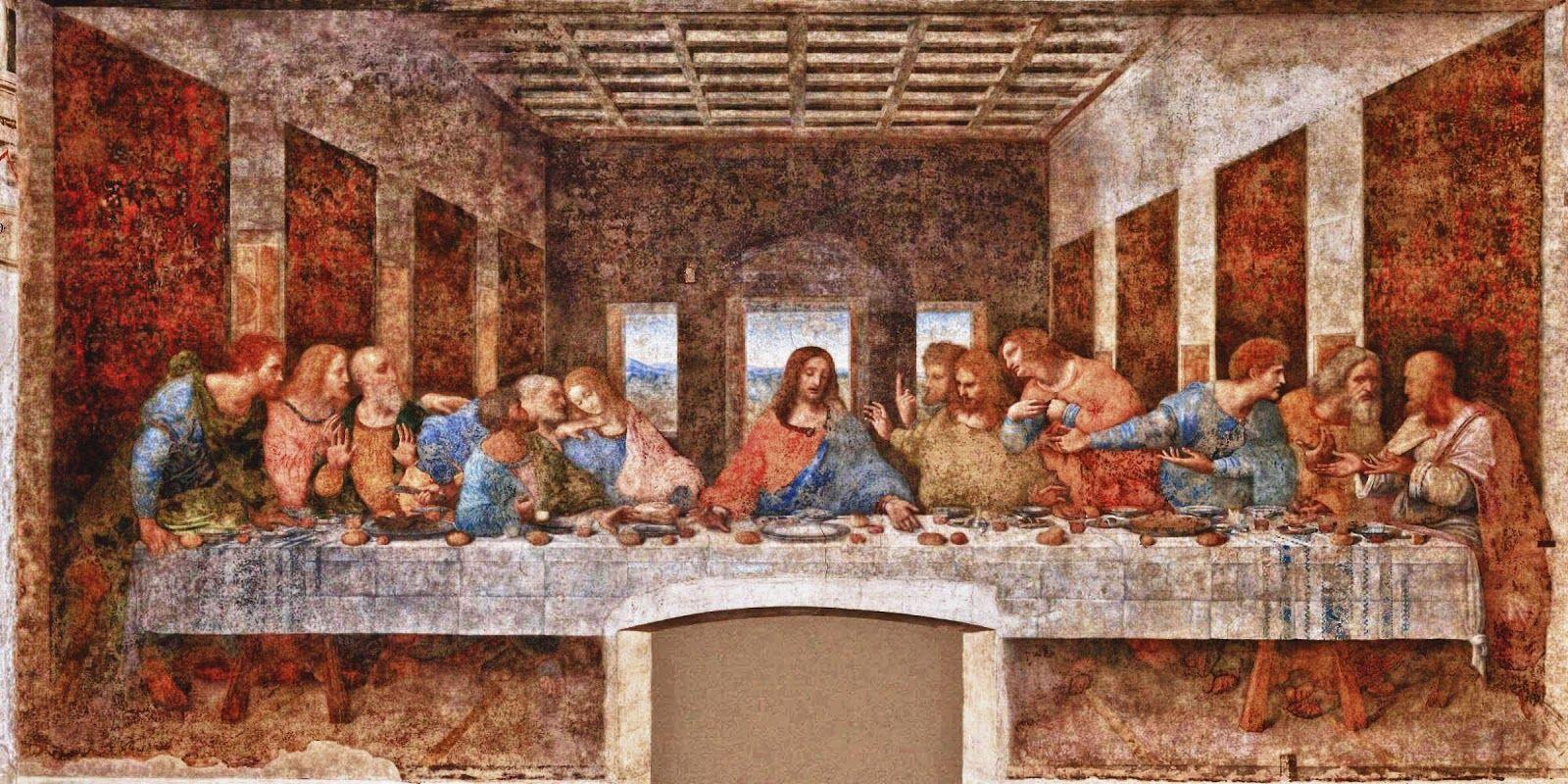 A Ultima Ceia Leonardo Da Vinci Dimensoes 4 6 M X 8 8 M