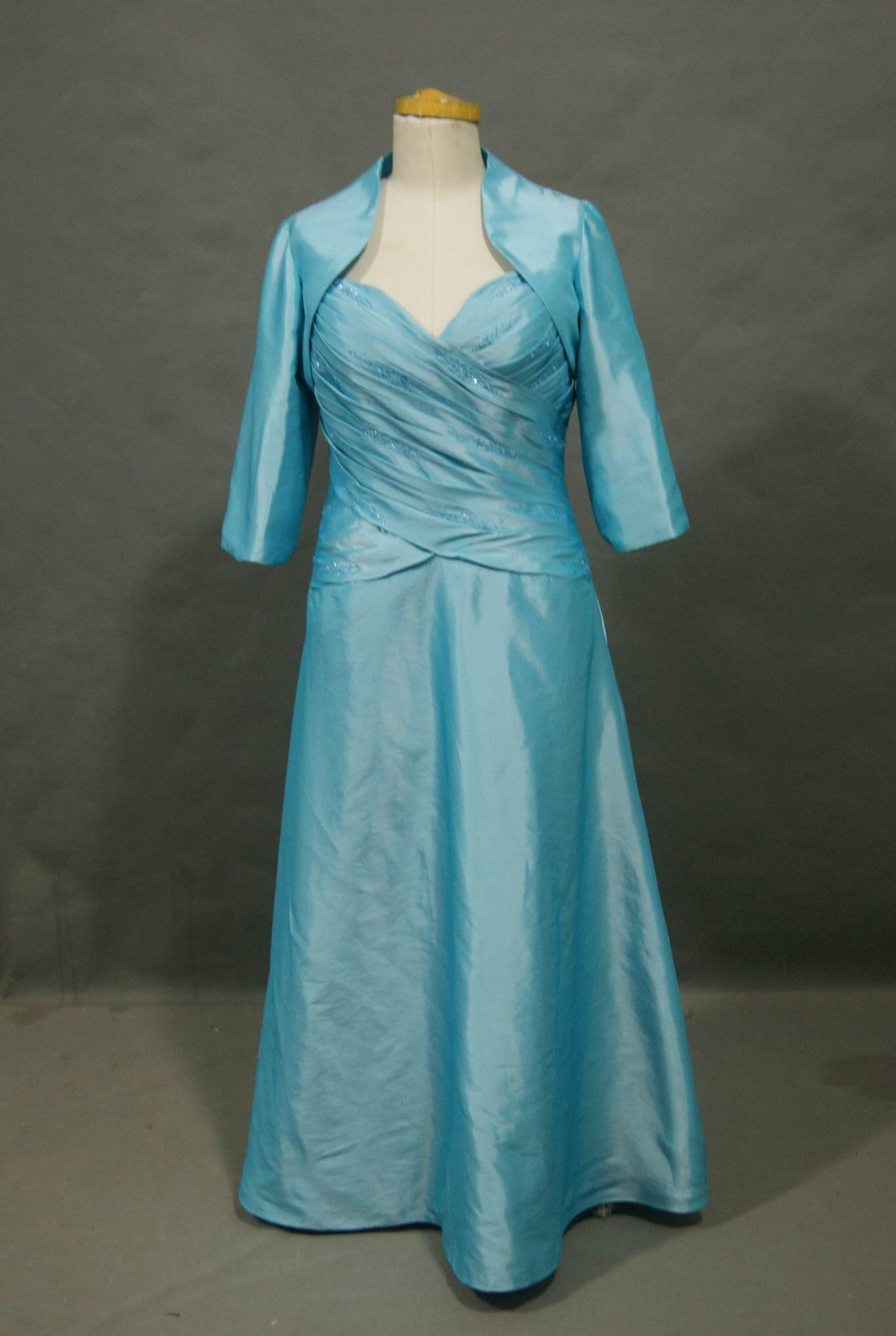 mother of the bride tea length tiffany blue dresses | pool blue ...