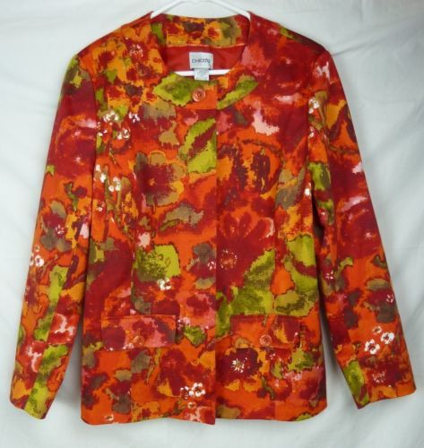 Chico's Women's Colorful Long Sleeve Fully Lined Button Front Jacket Chico's 1 | eBay