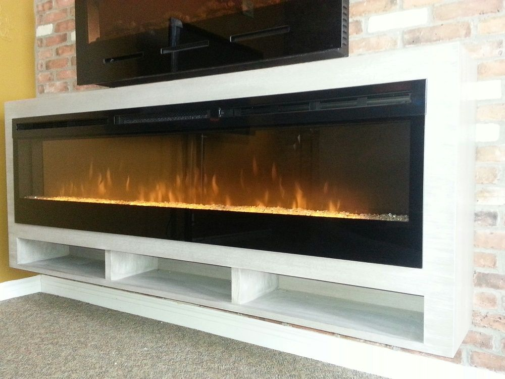 Dimplex BLF-74 electric fireplace in custom White Oak floating cabinet.  $1699.00 CAD for - 17 Best Ideas About Dimplex Fireplace On Pinterest Dimplex