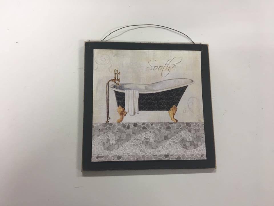 Spa Bathroom Decor Soothe Black White Wall Art Sign Bath Decorations Thelittleofhomedecor