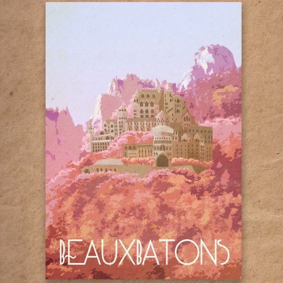 Beauxbatons Academy Of Magic Harry Potter Wizarding Schools Etsy Cool Posters Postcard Printing Travel Posters