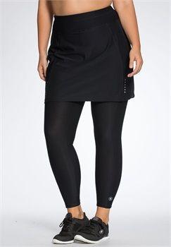 plus size skirted capri legging   fitness   pinterest   occasion tops