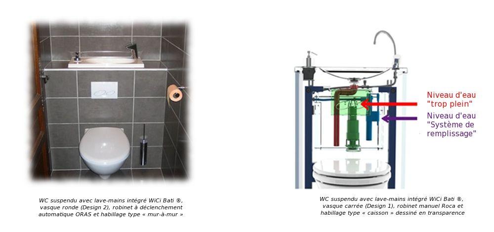 r cup ration de l 39 eau du wc suspendu avec lave mains. Black Bedroom Furniture Sets. Home Design Ideas