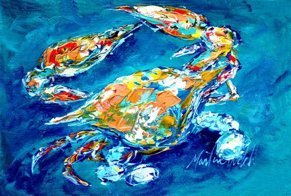By Chance Crab Fabric Placemat MW1153PLMT
