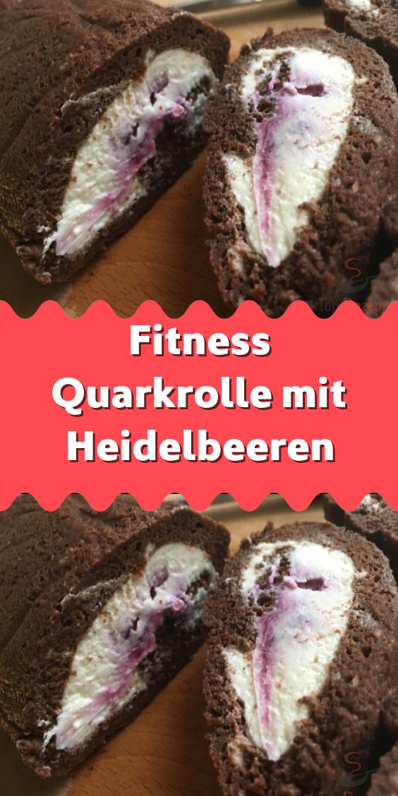 Fitness Quarkrolle mit Heidelbeeren -  Ohne Mehl ohne Zucker und ohne Gewissensbisse beim Genießen....