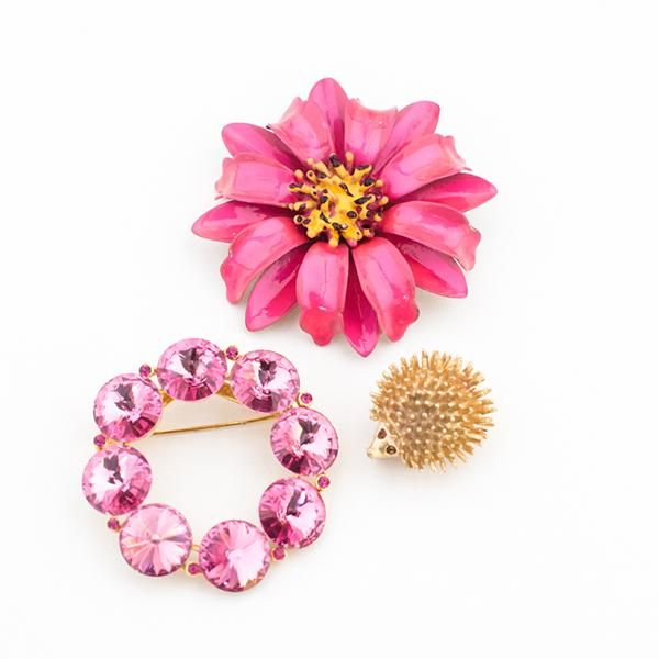 """Pretty In Pink"" Vintage Brooch Collection, exclusively on the Oh Joy Shop!"