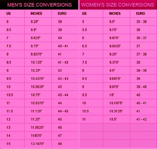 For example, if a man wears size seven shoes but wants to know what the women's shoe size for his feet would be, he would add to seven to learn that the women's size for his feet would be Likewise, a size 10 for a man would be size for a woman, and a .