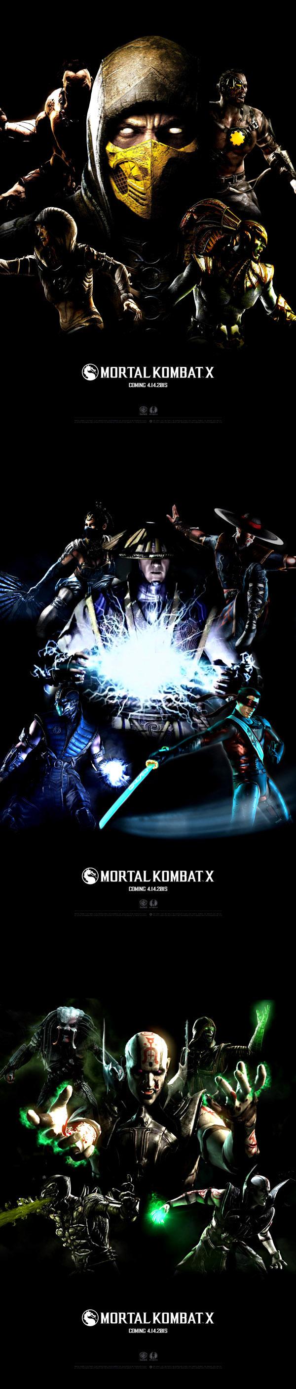 Mortal Kombat X Mkx Posters Fanart On Behance Comics Art