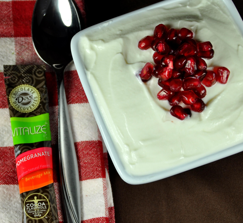 Pomegranate Vitalize In Yogurt Dove Chocolate Recipes Ideas