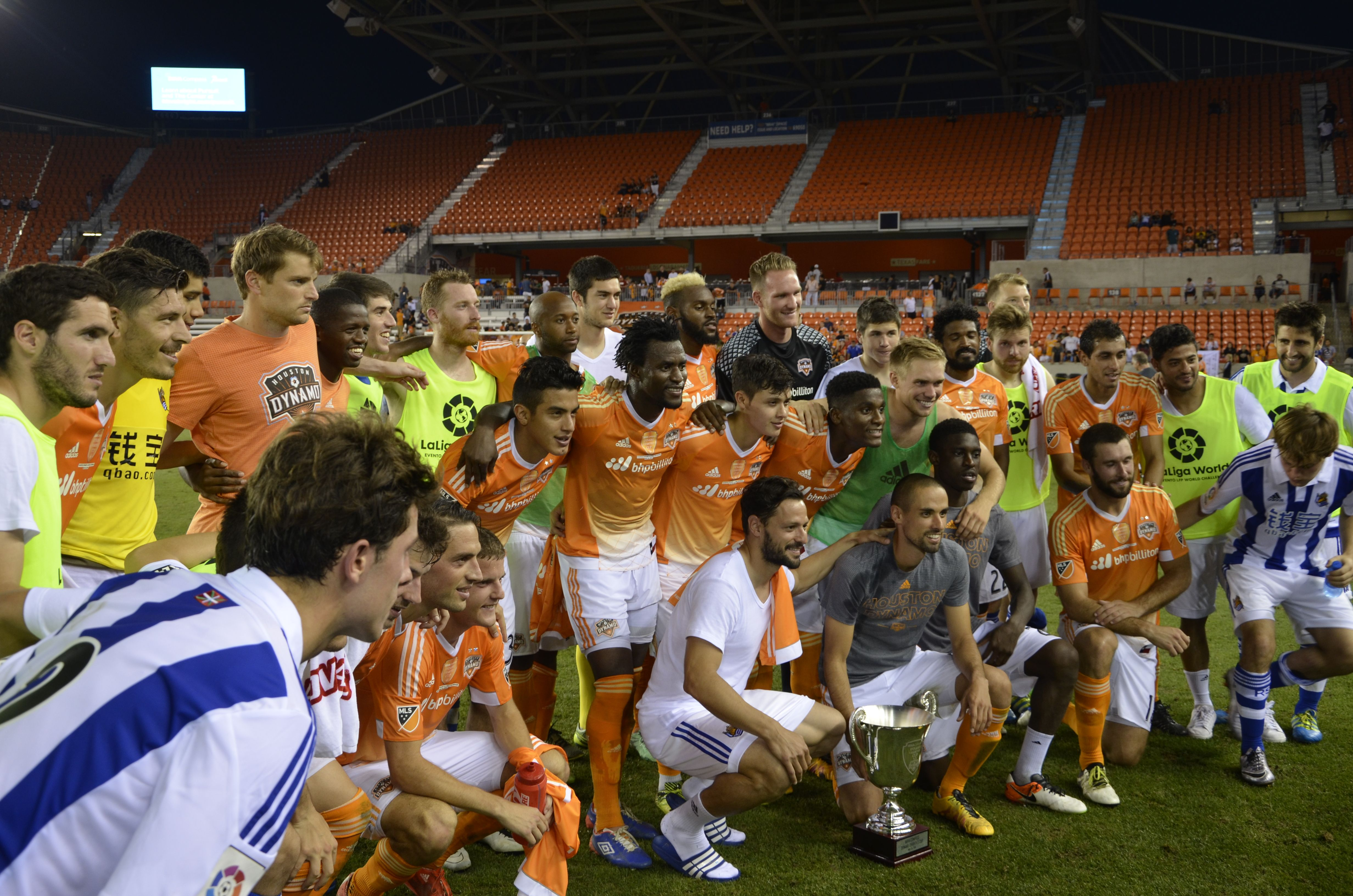 Houston Top Real Sociedad in Dynamo Charities Cup