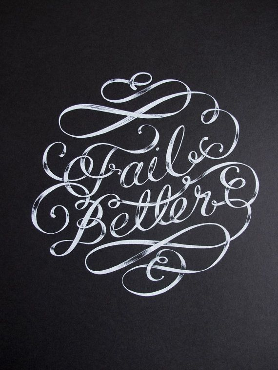 Fail Better - typography
