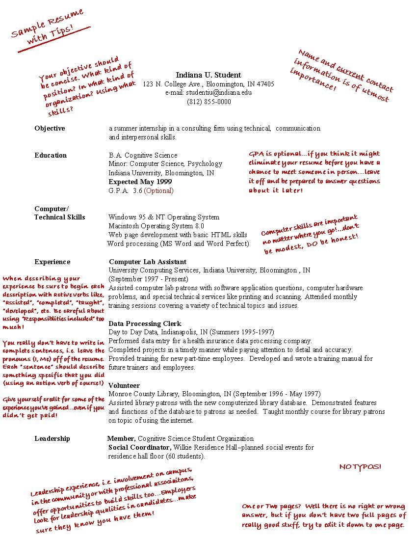 high school student first job resume examples