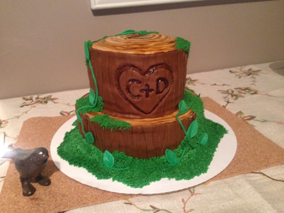 Woodsy Themed Engagement Party cake - photo 1