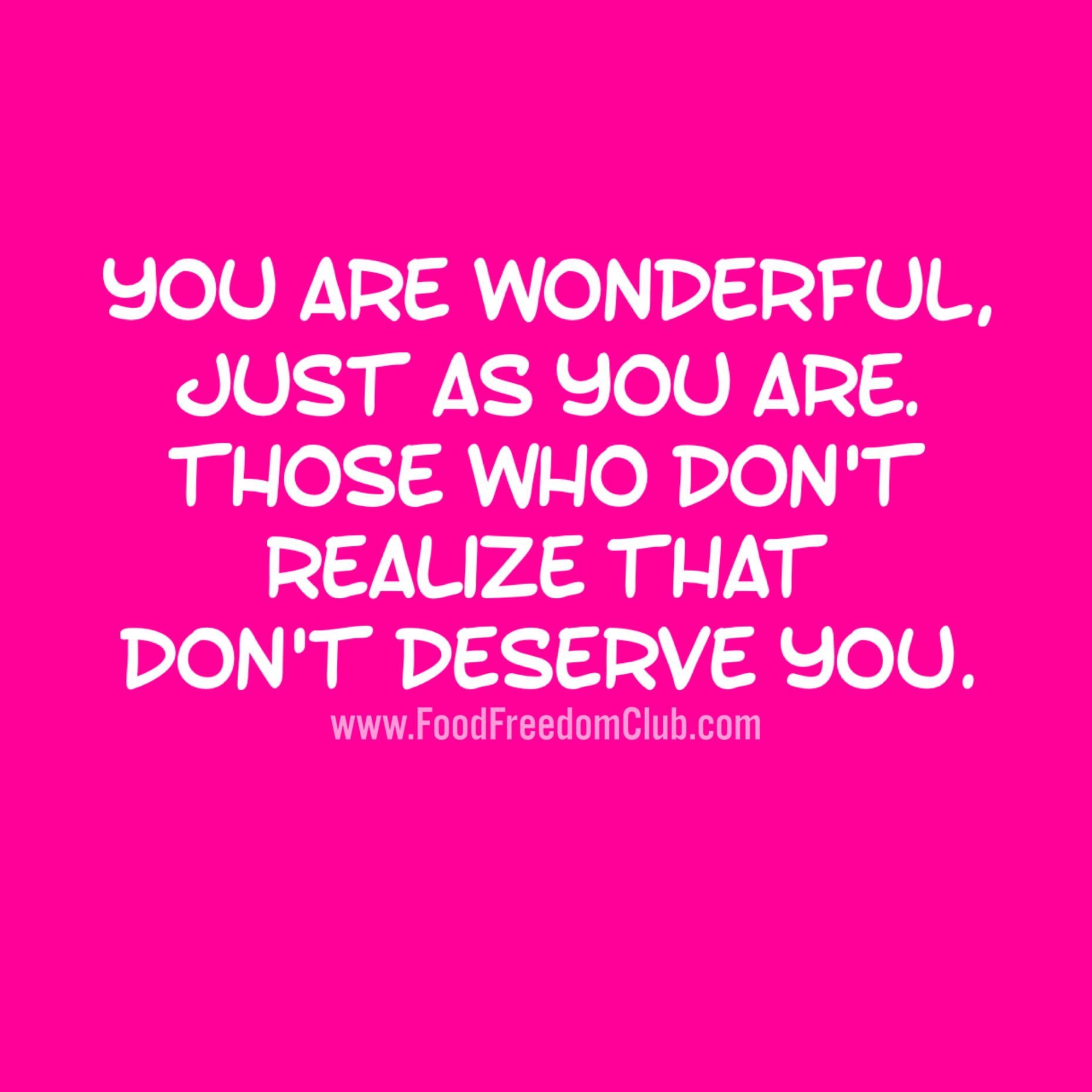 You Are Wonderful Quote