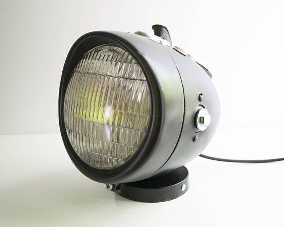 Retro Lampen Led : Retro headlight table lamp motorcycle light led desk lamp