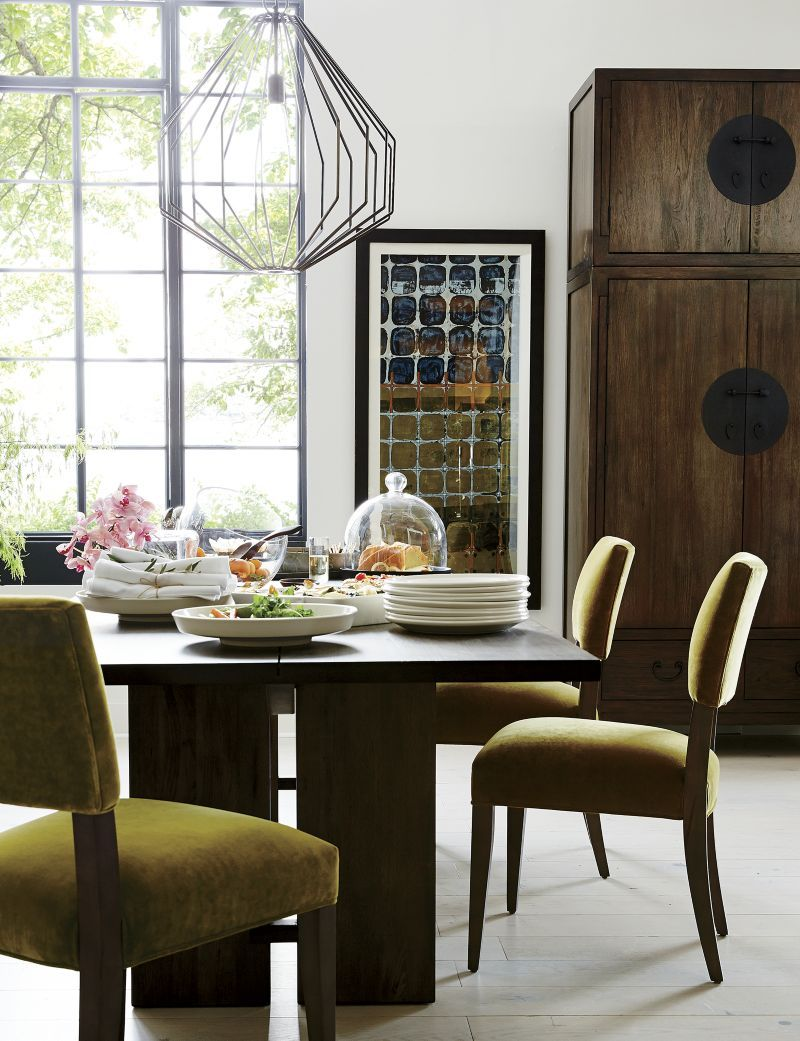 Monarch Shiitake Dining Tables Crate And Barrel Furniture