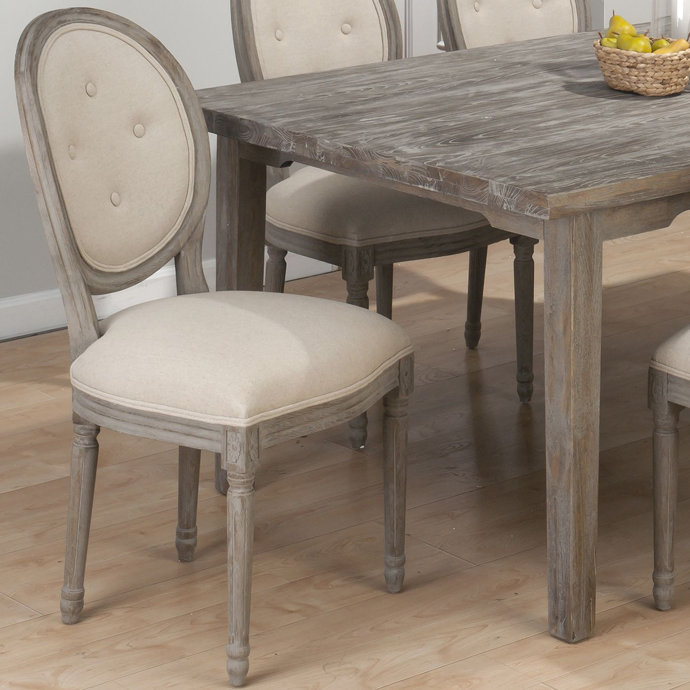 Shop Jofran 856-948 Oval Tufted Back Dining Chair (Set Of