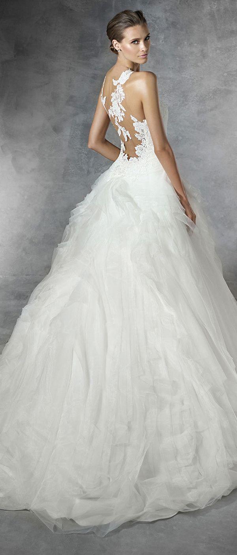 Back detail wedding dress  Pronovias Wedding Dresses  Collection Part   Preston Wedding
