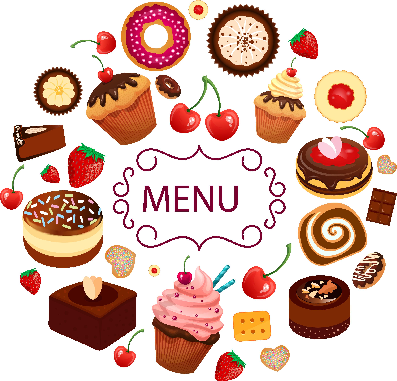 сладости Etiquetas para doces, Design de menu, Doces