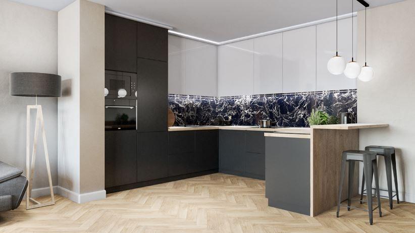 Kuchnia Otwarta Na Salon W Nowoczesnym Wydaniu Home Decor Home Decor