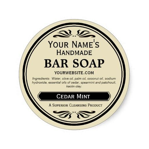 Old Fashioned Look Handmade Soap Labels Round Zazzle Com Soap