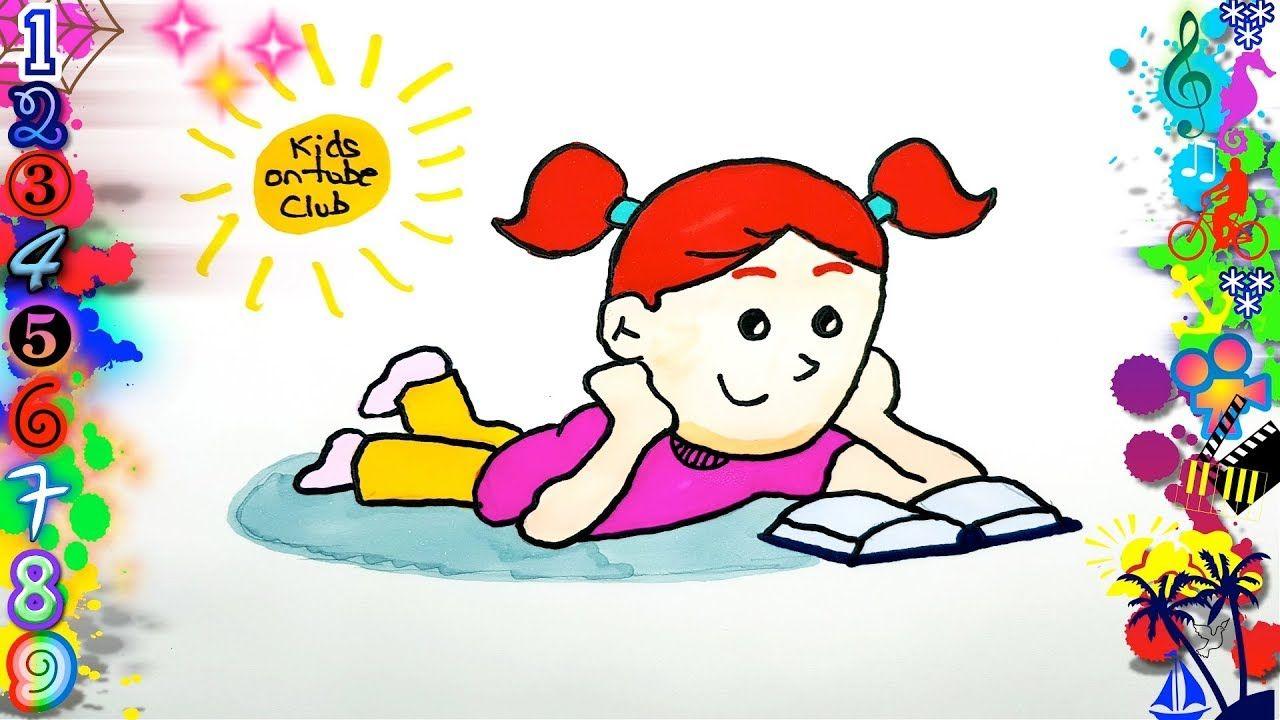 Dibujos Faciles Para Ninos Nina Leyendo Dibujos Dibujos Para Dibujar Como Dibujar Ninos Dibujos Faciles Para Ninos Ninos Leyendo
