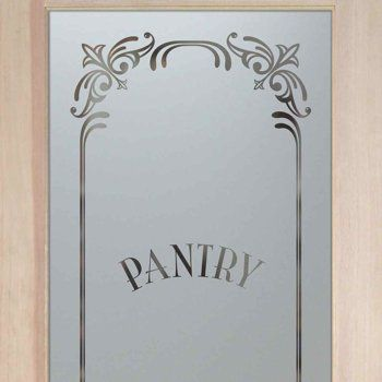 Pantry doors etched glass pantry door frosted elegant border home pantry doors etched glass pantry door frosted elegant border planetlyrics Choice Image