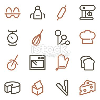 Vector File Of Baking Icons Line Color Series Related