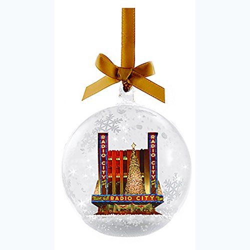 Amazon.com: Kurt Adler Radio City Music Hall Glass Snow Globe Christmas Ornament