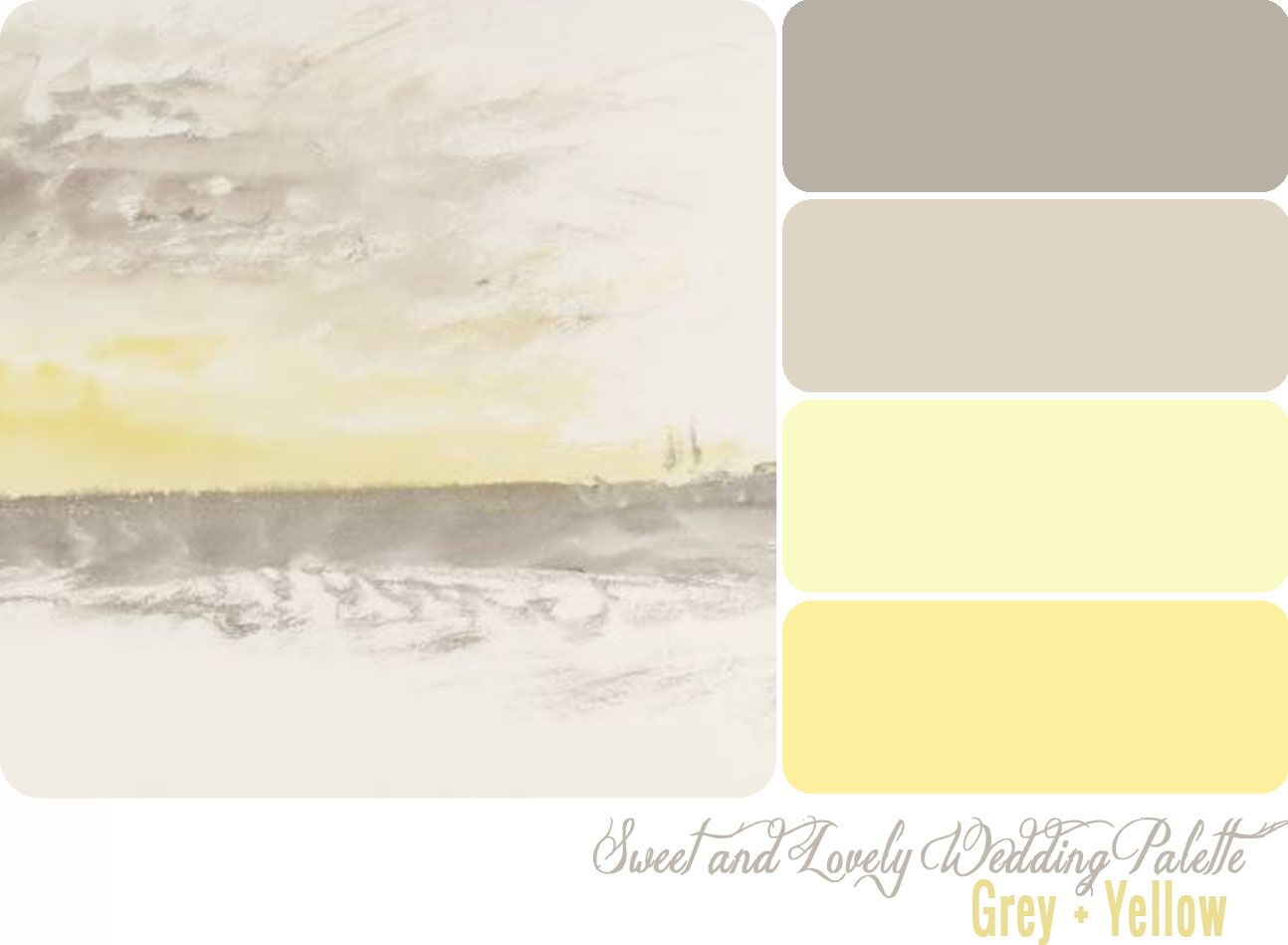 Grey and yellow color palette from sweet and lovely life for Yellow gray paint colors